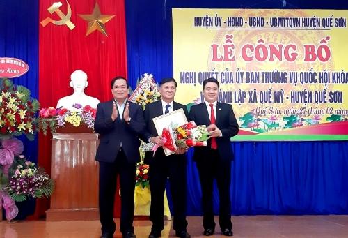 Công bố Nghị quyết của Ủy ban Thường vụ Quốc hội về thành lập xã Quế Mỹ, huyện Quế Sơn, tỉnh Quảng Nam