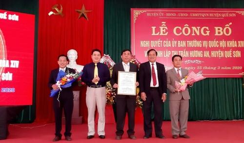Công bố thành lập thị trấn Hương An