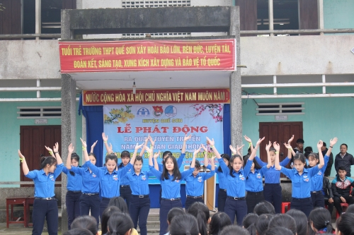 Huyện đoàn – Hội LHTN Việt Nam huyện Quế Sơn tổ chức Lễ ra quân Năm ATGT và Chương trình Xuân tình nguyện 2018.