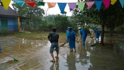 Khắc phục hậu quả sau đợt mưa lũ.
