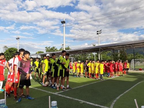 Khai mạc giải bóng đá mini 05 người khối TH  và 07 người khối THCS năm 2019