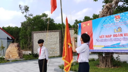 Quế Phú: Kết nạp Lớp Đoàn viên 90 năm tại địa chỉ đỏ