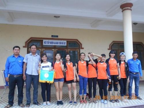 Quế Xuân 1 tổ chức giải bóng chuyền Nữ Thanh thiếu niên hè 2016