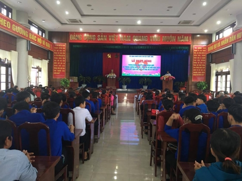 Tuổi trẻ Quế Sơn tham gia lễ phát động Tháng hành động Vì bình đẳng giới và phòng chống bạo lực trên cơ sở giới, phòng chống bạo lực ở phụ nữ và trẻ em